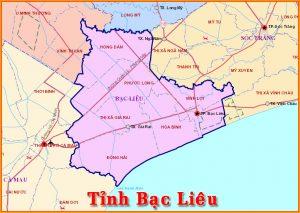 Thông tin hành chính tỉnh Bạc Liêu