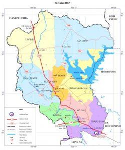 Thông tin hành chính tỉnh Tây Ninh